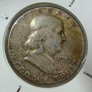 超筍!1952年美國半圓銀幣 美包漿