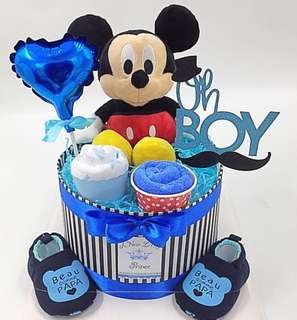 Baby Diaper Cake (Ready Stock)- Authentic Micky Mouse -