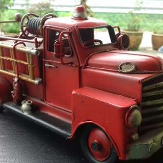 Decorative fire brigade truck