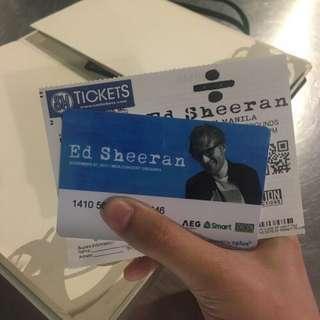 Ed Sheeran Gold Ticket