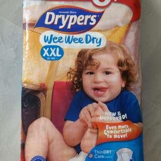Drypers wet wet dry