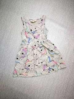 Girl Unicorn Mini Dress