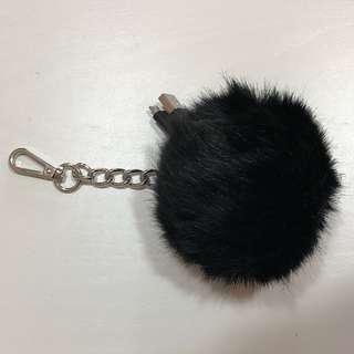 毛毛球掛飾充電線 藍色iPhone/黑色Samsung