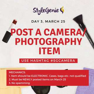 DAY 3: POST A CAMERA/ PHOTOGRAPHY ELECTRONIC ACCESSORY