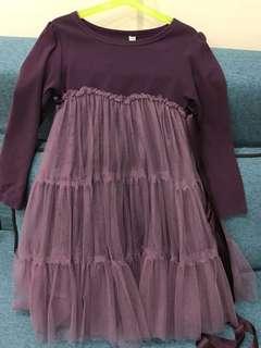 Babydoll Dress purple