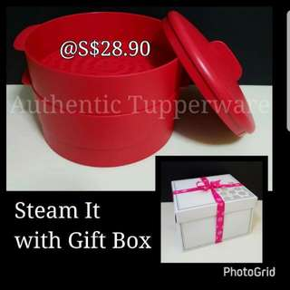 Authentic Tupperware  Steam It  《Retail Price S$28.90/Piece》 serve. Free Delivery to ALL Mrt Station