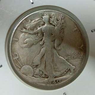 1940年美國半圓銀幣