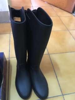 時尚 長統雨靴 雨鞋