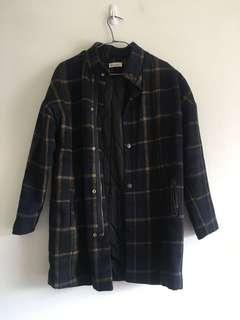 內鋪棉格紋外套