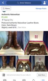 Preloved Authentic Naturalizer Boots