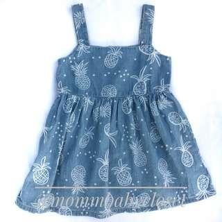 Pineapple Denim Dress