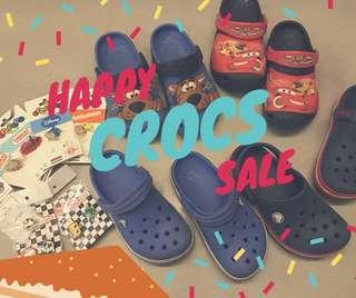 Crocs 4雙+全新鞋扣