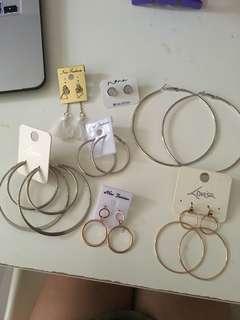 Lovisa hoops earrings tassel silver