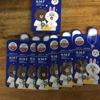 Mediheal Line Friends NMF Aquaring Ampoule Mask 7pcs
