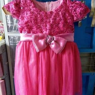 Pink bow dress princess bubble gum costume