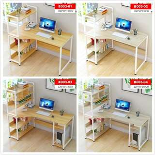 Computer table/study desk with bookshelf/table with shelf