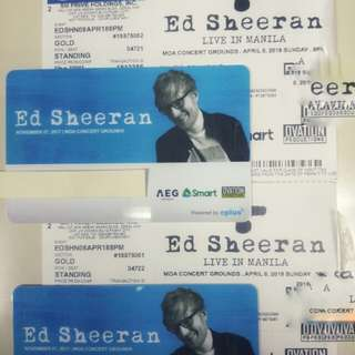 Ed Sheeran Divide Tour Manila Gold Tix