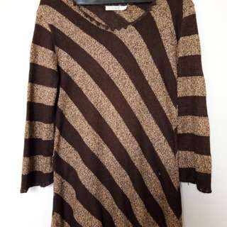 XL SIZE: Come Stripe beige and brown