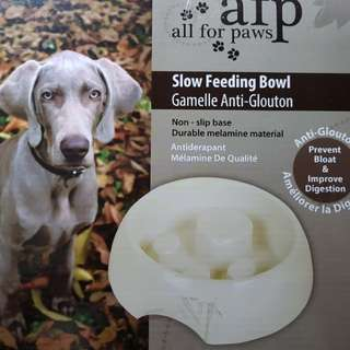 Medium-sized Slow Feeding Bowl for Dog (Brand: all for paws)