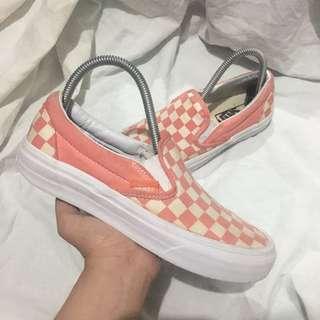 Vans Pastel Pink Checkerboard
