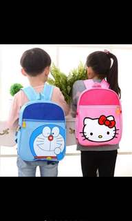 Toddlers Backpack Doraemon & Hello Kitty