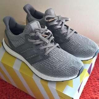 Adidas Ultraboost 3.0 Grey Leather Cage UA Original BASF Boost