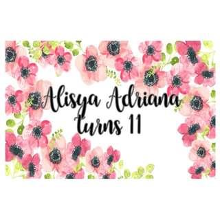 Sticker Label - Flowers