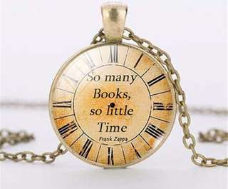 Pendant Necklace So Many Books So little time