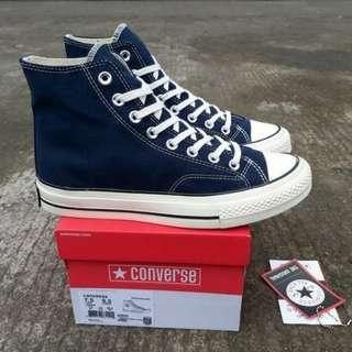 Sepatu Converse All Star CT II 70s Hi Navy White Premium BNIB