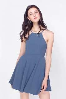 BNWT Fayth Belle Pocket Swing Dress in Ash Blue