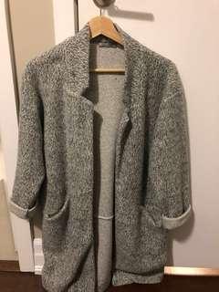 ZARA Grey Midi Coat (Size S)