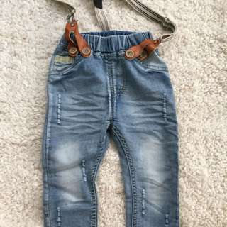 Tattered baby jeans