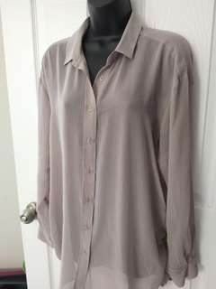Grey loose fitting blouse