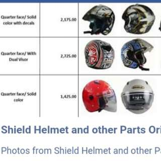 Shield Helmet and other Parts
