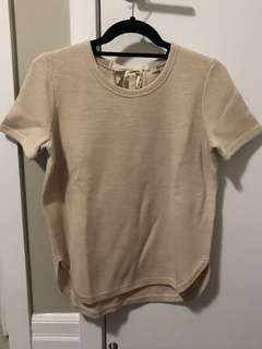 MADEWELL Short Sleeved Sweater with Bow (Size S)
