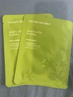 Nature Republic White Vita Floral Mask Sheet