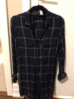 HM Plaid Shirtdress (Size 4)