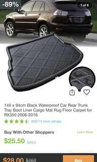 Lexus car real trunk tray