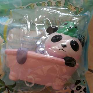 Panda on a Bath Tub Squishy