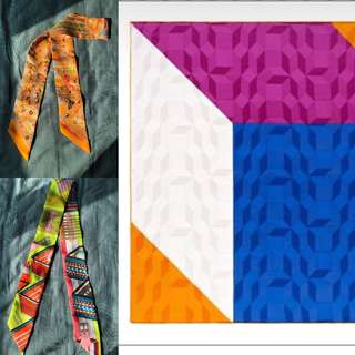 Hermes twilly and scarf bundle sales
