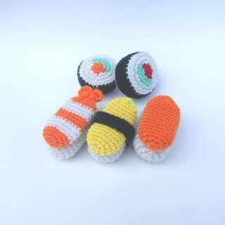 PLUSHIE Ready To Ship: Sushi Set, Nigiri Set, Maki Set, Play Food (Crochet Amigurumi)