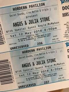 Angus & Julia Stone Tickets x2