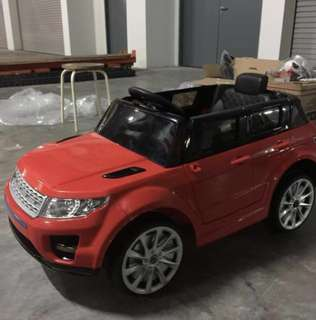 In Stock - Electric Car Sporty Land Rover Ride On Kids Car With Bluetooth Remote Controller And Genuine Leather Seat