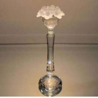 Candle holder With Frosted Flowers SWAROVSKI