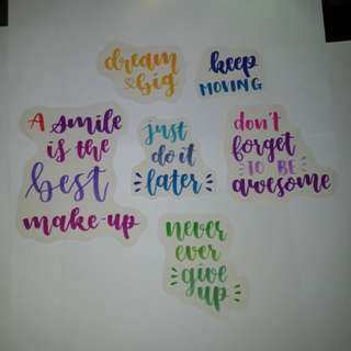 ⛄ diy quote stickers!