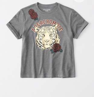 Abercrombie and Fitch tee shirt with shine logo