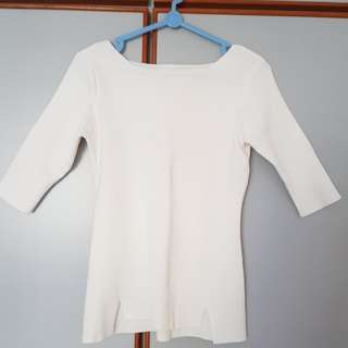 White Top boat neck