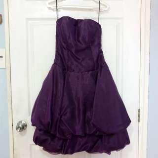 Violet Tube Cocktail Dress formal wear
