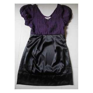 NEW Angie satin purple dress