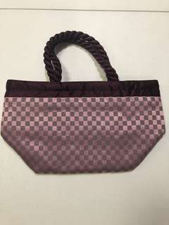 Naraya Small purple and brown bag